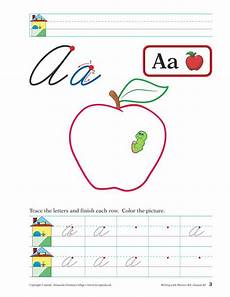 abeka cursive handwriting worksheets 21966 writing with phonics k4 cursive writing writing lessons phonics