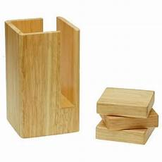 this set of 4 etac wooden bed risers can be used to raise the height of most beds and other