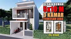 Desain Rumah 5x10 M 3 Kamar Terkesan Luas
