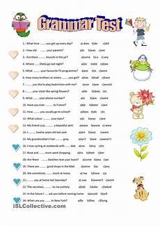 grammar worksheets elementary 18268 grammar test with images grammar worksheets grammar test