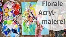 farbenfrohe florale acrylmalerei ganz einfach malen
