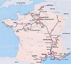 distance toulon map of tgv high speed system with the