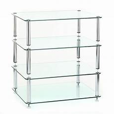 hifi rack glas custom design hifi rack discrete 4 chrome klarem glas