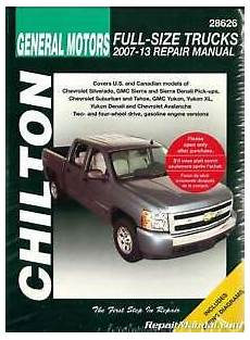 manual repair free 2009 chevrolet suburban 1500 regenerative braking chilton 2007 2013 chevrolet silverado gmc sierra repair manual ch28626 ebay