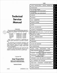 1973 jeep cj wiring diagram 1973 jeep repair shop manual reprint 73 cj 5 6 wagoneer commando truck