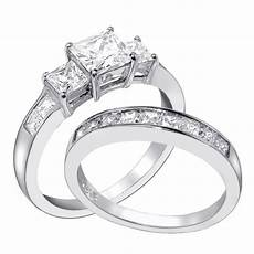15 photo of princess cut wedding rings for women