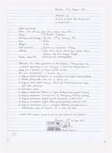 contoh surat lamaran kerja tulis tangan yang benar