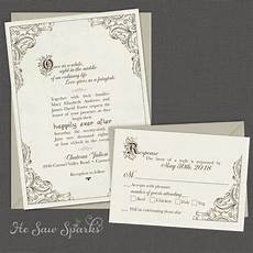 Tale Wedding Invitations fairytale printable wedding invitation happy endings