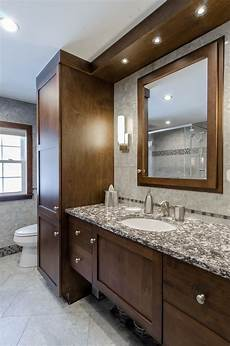 Bathroom Ideas Brown Cabinets by Bathroom Remodel Brown Cabinets Custom Soffit With