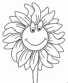 Gratis Malvorlagen Vire Sonnenblume Mit Gesicht Ausmalbild Malvorlage Comics