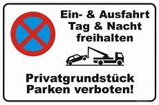 30x45cmparkverbot Schild Parken Verboten Aufkleber Ein