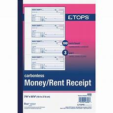 tops 3 part carbonless money and rent receipt book personnel security more shop the exchange