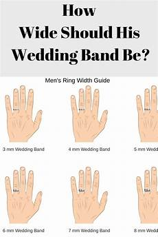 mens wedding ring width guide how wide thick should it