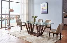 Kitchen Table Sets Michigan by Sophisticated Rectangular Wooden And Clear Glass Top