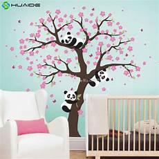mignon panda et cherry blossom arbre sticker pour