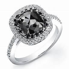 white gold 2 ct cushion black diamond ring i really like the of a black diamond