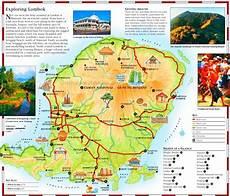lombok map louisiana lombok tourist map