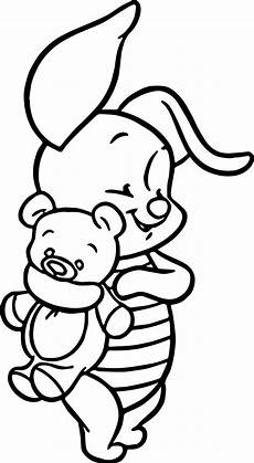 winnie the pooh coloring pages beartoy baby piglet