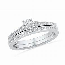 miracle diamond engagement ring in sterling silver
