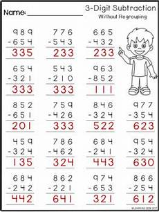 3 digit subtraction without regrouping distance learning