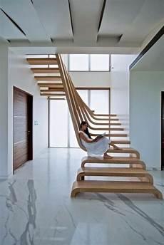 Moderne Elegante Treppen Aus Holz Architektur