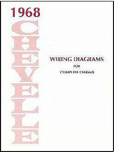 1968 chevy chevelle wiring diagram 1968 68 chevelle ss wiring diagram manual ebay