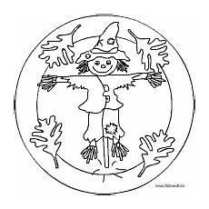 vogelscheuche mandala ausmalbilder mandala herbst