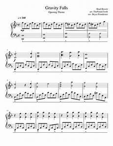 gravity falls opening intermediate piano solo sheet music for piano download free in pdf or midi