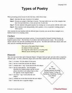 types of poetry worksheet 4th grade 25453 4th grade poetry worksheets newatvs info