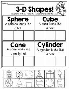 3 d shapes cut and paste ch elementary pinterest