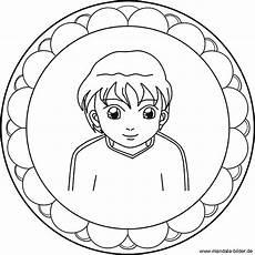 Bilder Zum Ausmalen Jungen Kinder Mandala Mit Einem Jungen Als Ausmalbild