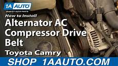auto air conditioning repair 2008 toyota camry engine control how to replace alternator ac compressor drive belt 92 96 toyota camry youtube