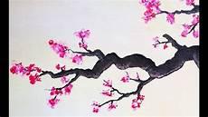fleur de cerisier dessin cerisier en fleurs peinture acrylique