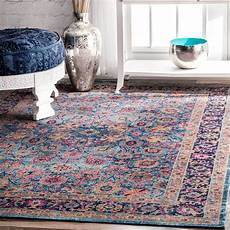 flauschiger teppich nuloom traditional lily floral area rug blumenteppich