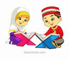 Gambar Kartun Anak Muslim Mengaji Vector Desaintasik