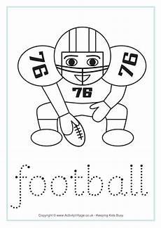 sports tracing worksheets 15881 american football word tracing