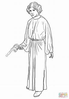 Ausmalbild Prinzessin Leia Princess Leia Coloring Page Free Printable Coloring Pages