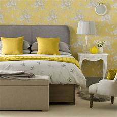 Yellow And Grey Wallpaper Bedroom Ideas by Vintage Bedrooms To Delight You Ideal Home