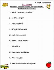 punctuation worksheets class 2 20728 punctuation worksheet 1 estudynotes