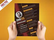 free psd creative graphic designer resume template psd free psd ui download