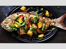 crispy fish with sweet and sour sauce_image