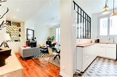 deco a vivre avec cuisine ouverte cuisine semi ouverte avec une verri 232 re entre la cuisine et