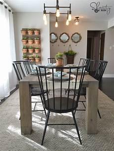 diy modern farmhouse table as seen hgtv open concept