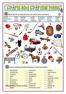sports related worksheets 15870 sports and sporting items การเร ยนร