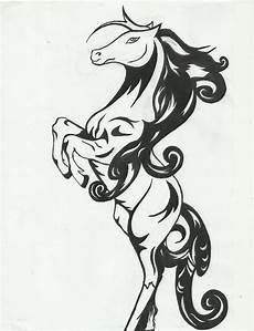 Drawing Kuda Gambar Siluet