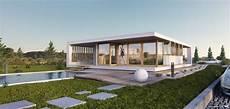 3d architectural visualization modern bungalow 3d