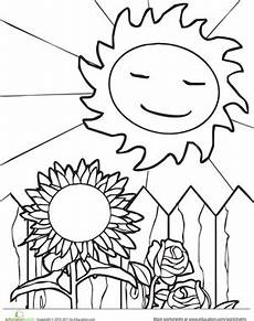 nature and weather worksheets 15158 sun and sunflower worksheet education