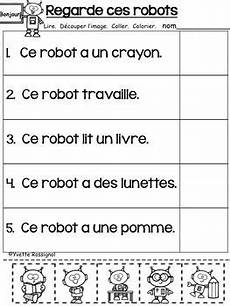 grade 5 immersion grammar worksheets 25143 lecture facile d 233 coupe et colle niveau 2 reading comprehension teaching