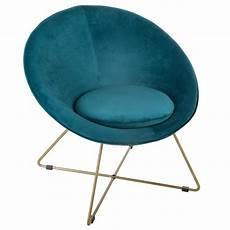 fauteuil bleu canard fauteuil bleu canard evan en velours pieds or atmosphera