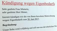 Eigenbedarf Wohnung by Eigenbedarf Wann Darf Der Vermieter K 252 Ndigen
